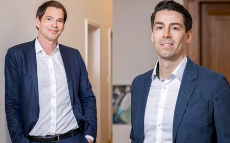 Die Sportrechtler Christian Keidel und Dr. Paul Fischer wechseln von Martens Rechtsanwälte zu Lentze Stopper (Fotos: Lentze Stopper)